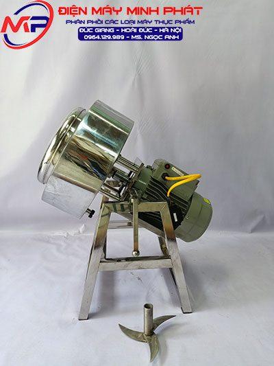 Máy Xay Giò Chả 5KG 3.5Kw Dao Thả Có Bao Đá Nồi 30cm Khung Inox
