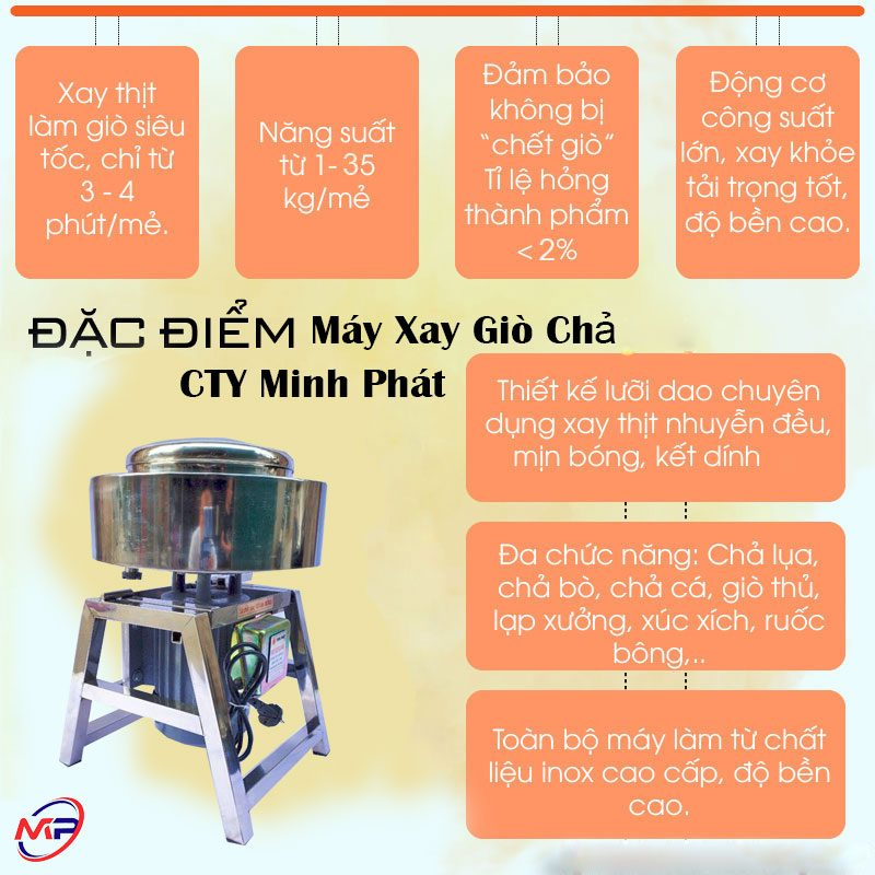 Đặc Điểm Của Máy Xay Giò Chả Minh Phát